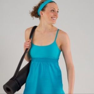 Lululemon Bliss Baby Doll Tank in Blue with Pads